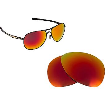 Best SEEK Polarized Replacement Lenses for Oakley PLAINTIFF Fire Red Mirror