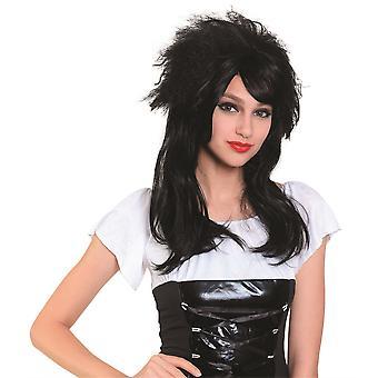 Damen Perücke lang schwarz