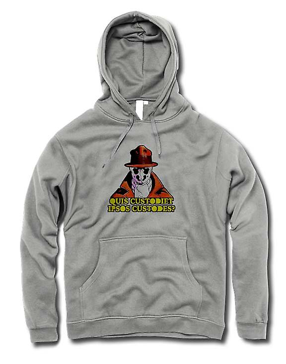 Mens Hoodie - som tittar på Watchmen New World Order