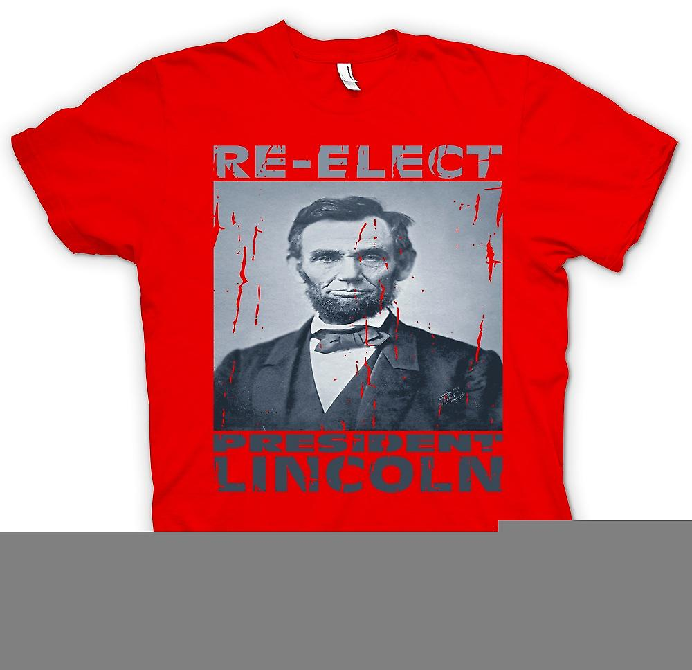 Mens T-shirt - Relect President Lincoln - Portrait