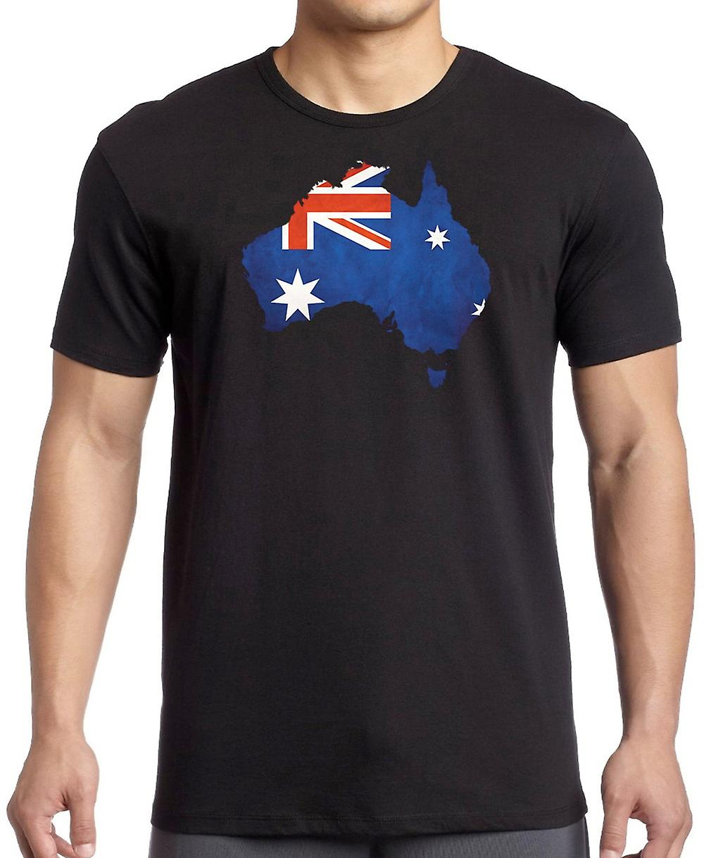 Australia Australia Flag Map -  Kids T Shirt
