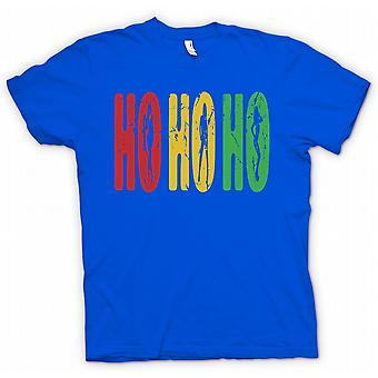 Mens T skjorte Ho Ho Ho - Funny men råolje Santa