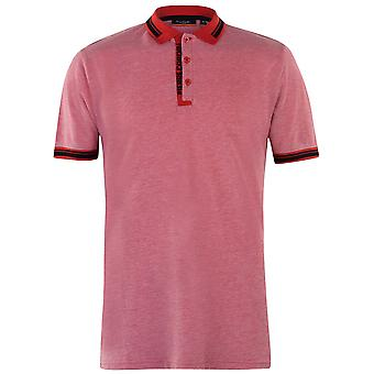 Pierre Cardin Mens Contrast Polo Shirt Classic Fit Tee Top Short Sleeve Fold