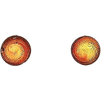 Ladies Antica Murrina Caterina Sterling Silver Red/Goldtone Murano 5mm Stud Earrings