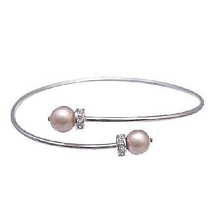 Wedding Champagne Dress Jewelry Silver Adjustable Cuff Bracelet