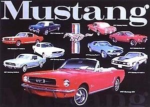 Ford Mustang Tribute Steel Sign