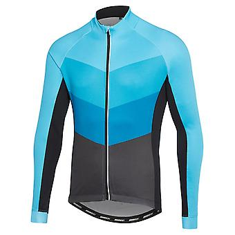 Madison Hex Camo-Black-Blue Sportive Thermal Long Sleeved Cycling Jersey