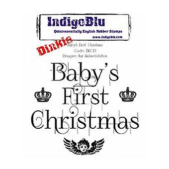 IndigoBlu Baby's First Christmas Dinkie Mounted A7 Rubber Stamps (BFC-D)