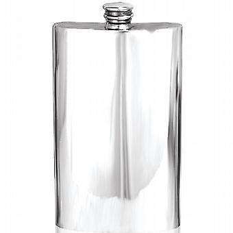 8oz PLAIN FLASK PEWTER - FL257