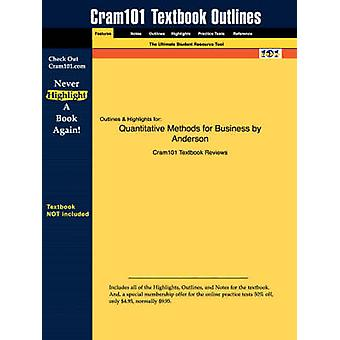 Studyguide for Quantitative Methods for Business by Anderson - ISBN 9