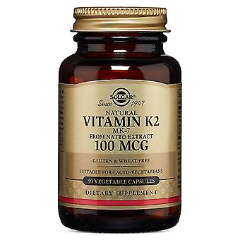 Solgar Vitamin K2 100 ug Vegetable Capsules, 50
