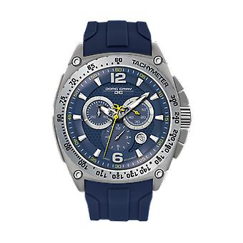 Men's Watch JG8400-21 - Blue Silicone Strap - Blue Dial - Jorg Gray