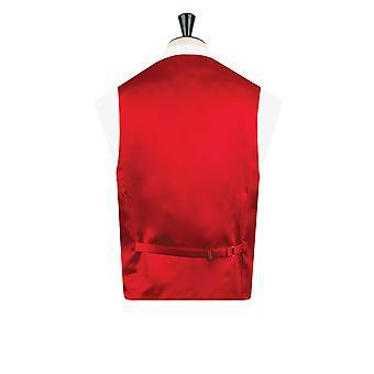 Dobell Mens rosso gilet Regular Fit doppio petto scialle bavero vittoriano jacquard