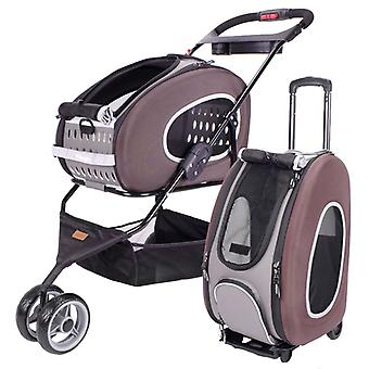 Ibiyaya Multifunction Pet Stroller 5 In 1 Brown