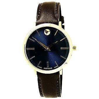 Movado Ultra Slim Leather Ladies Watch 0607092