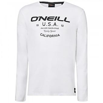 O ' Neill LM Olsen långärmad T-shirt, super vit
