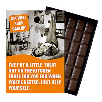 Get Well Soon Gift For Men Silly Boxed Chocolate Greeting Card Present for Man CDL234
