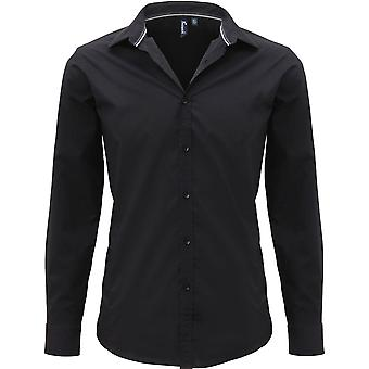 Premier - Mens Long Sleeve Fitted