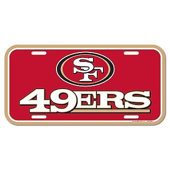 Wincraft NFL Kennzeichenschild - San Francisco 49ers