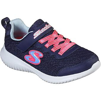 Skechers Girls Ultra Flex Lace Up Flexible Trainers Shoes