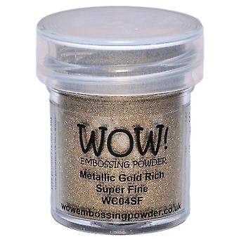 Wow! Embossing Powder Super Fine 15Ml Gold Rich Wow Sf Wc04