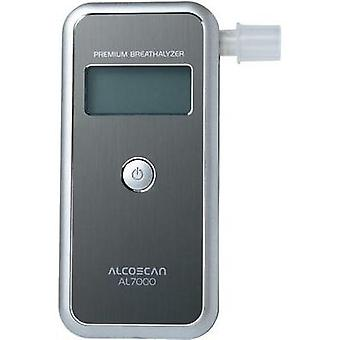 Breathalyser ACE ACE AL7000 Silver Alcohol level reading range (max.)=4 ‰ Exchangeable sensor, Incl. display