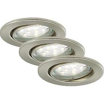 Flush mount light 3-piece set GU10 9 W Briloner 7225-032 FIT Nickel (matt)