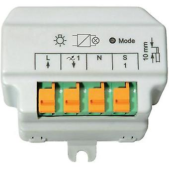 Inalámbrico de HomeMatic invertir fase control 91816 dimmer 1 canal Flush mount 180 VA