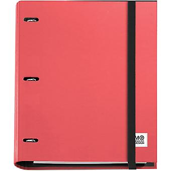 3-Ring Refillable Binder & 100 Sheets Of Paper-Red 147-14743