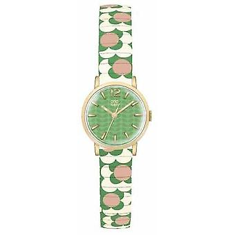 Orla Kiely Womans Green Dial Patterned Strap OK4042 Watch