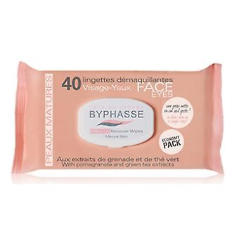Byphasse Mature Skin Cleansing wipes 40 units