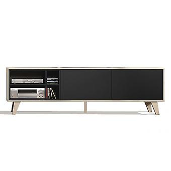 Bricohabitat Oak Hall Zaiken Tv / Grey 180x54x41 cm