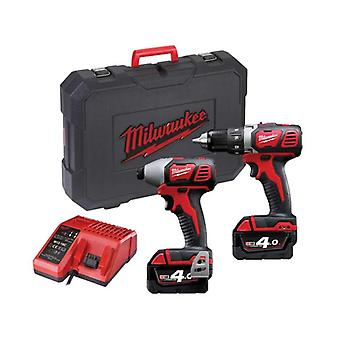 Milwaukee M18BPP2C - 402C schnurloses Twin Kit