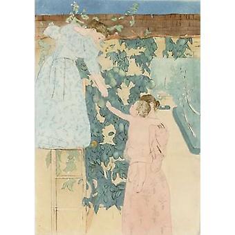 Gathering Fruit Poster Print by  Mary Cassatt