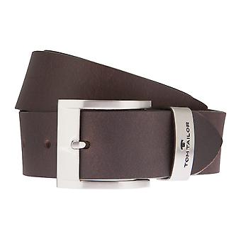 TOM TAILOR belts men's belts brown leather belt + can be shortened in 1877