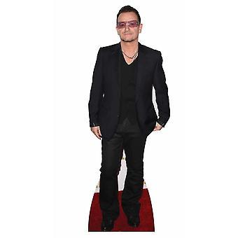 Bono fra U2 Lifesize pap påklædningsdukke / Standee / står