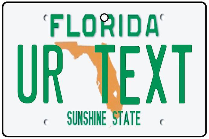 Personalised Florida Numberplate Car Air Freshener