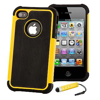 Shock Proof Case Cover For Apple iPod Touch 5 - Yellow