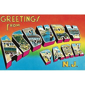 Bruce Springsteen - hälsningar från Asbury Park N.J. [Vinyl] USA import