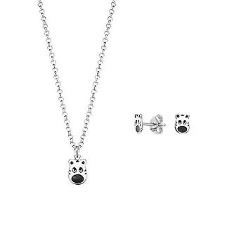 ESPRIT kids jewelry set silver chain earrings Tiger ESSE90986A340