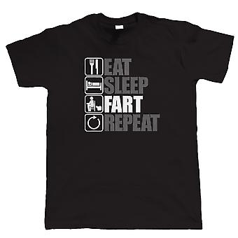 Vectorbomb, Eat Sleep Fart Repeat, Mens Funny Flatulence T Shirt (S to 5XL)