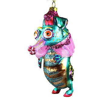 December diamanter Little Miss Seahorse alle Dolled op Christmas Holiday Ornament