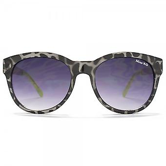 Miss KG Round Sunglasses With Metal Temple In Black Tortoiseshell & Snake