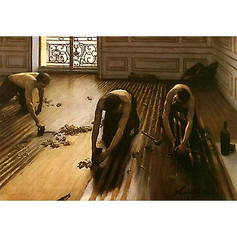 Gustave Caillebotte - The Floor Strippers Poster Print Giclee