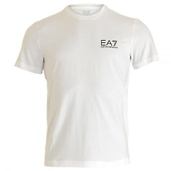 EA7 Emporio Armani Train Core ID Logo Crew Neck T-Shirt, White, Small