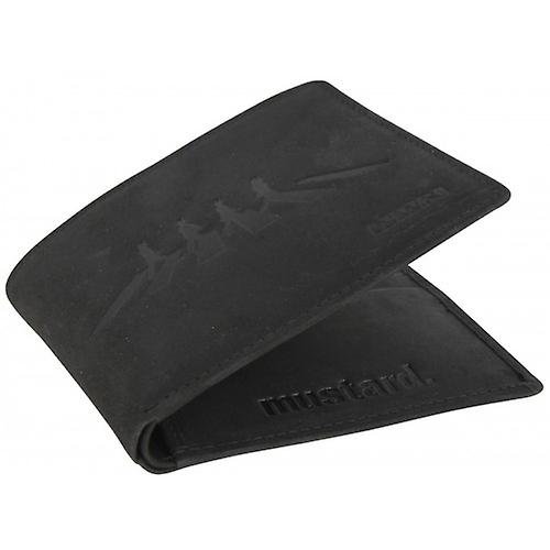 Mustard Abbey Road Wallet - Black