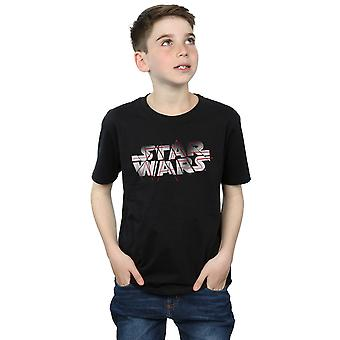 Star Wars Boys The Last Jedi Spray Logo T-Shirt