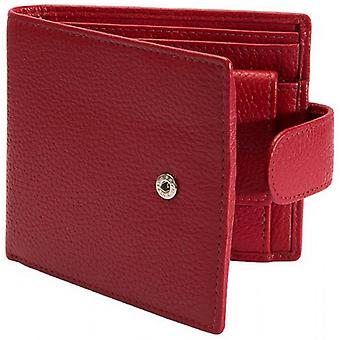 Dellen Pebble Grain RFID-Stud Bifold Wallet - Berry