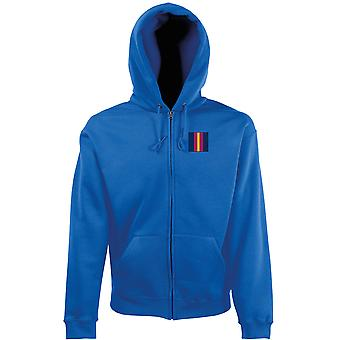 The Royal Anglian Regiment Embroidered TRF Logo - Official British Army Zipped Hoodie Jacket