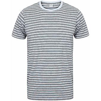 Skinni Fit Unisex Striped Short Sleeve T-Shirt